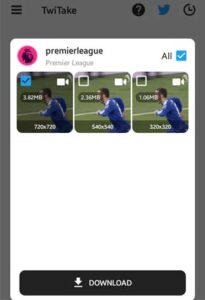 App Twimate download video from Twitter apk
