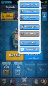 Clash Royale game to a supercell id
